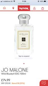 Jo Malone Wild Bluebell 100ml at TK Maxx for £74.99 (free C&C)