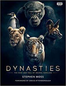 Amazon free delivery, Book hardcover, David Attenborough bbc series - Dynasties The rise and fall of animal families - Hardcover  £10 Amazon