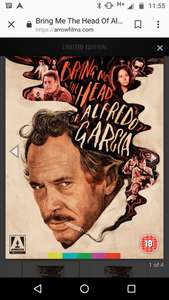 Bring Me The Head Of Alfredo Garcia limited edition Blu-ray £7.50 + del at Arrow Films