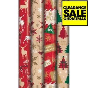 Wrapping Paper Christmas Tartan & Kraft 8m 59p @ JTF (also classic and cute)