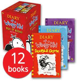 Diary of a Wimpy Kid Collection - 12 Books £12.74 Delivered with code stack @ The Book People