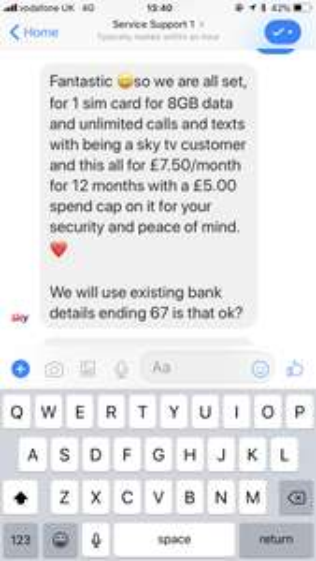 Sky Mobile SIM only all half price - live