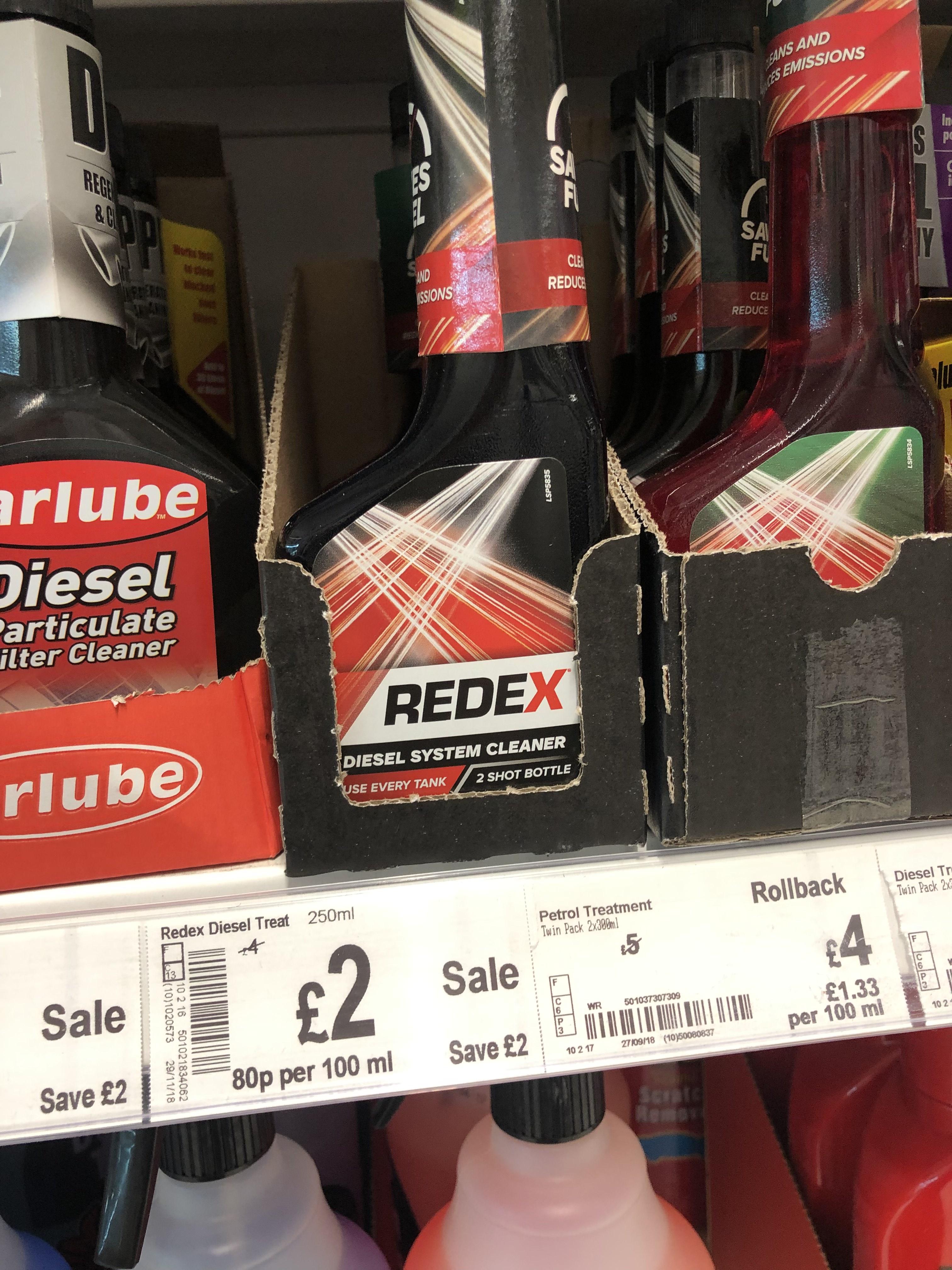 Redex diesel system cleaner instore ay Asda for £2