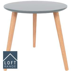 Loft Range Beautiful  Occasion Side Table: Grey/White  £11.99 @ Home Bargains