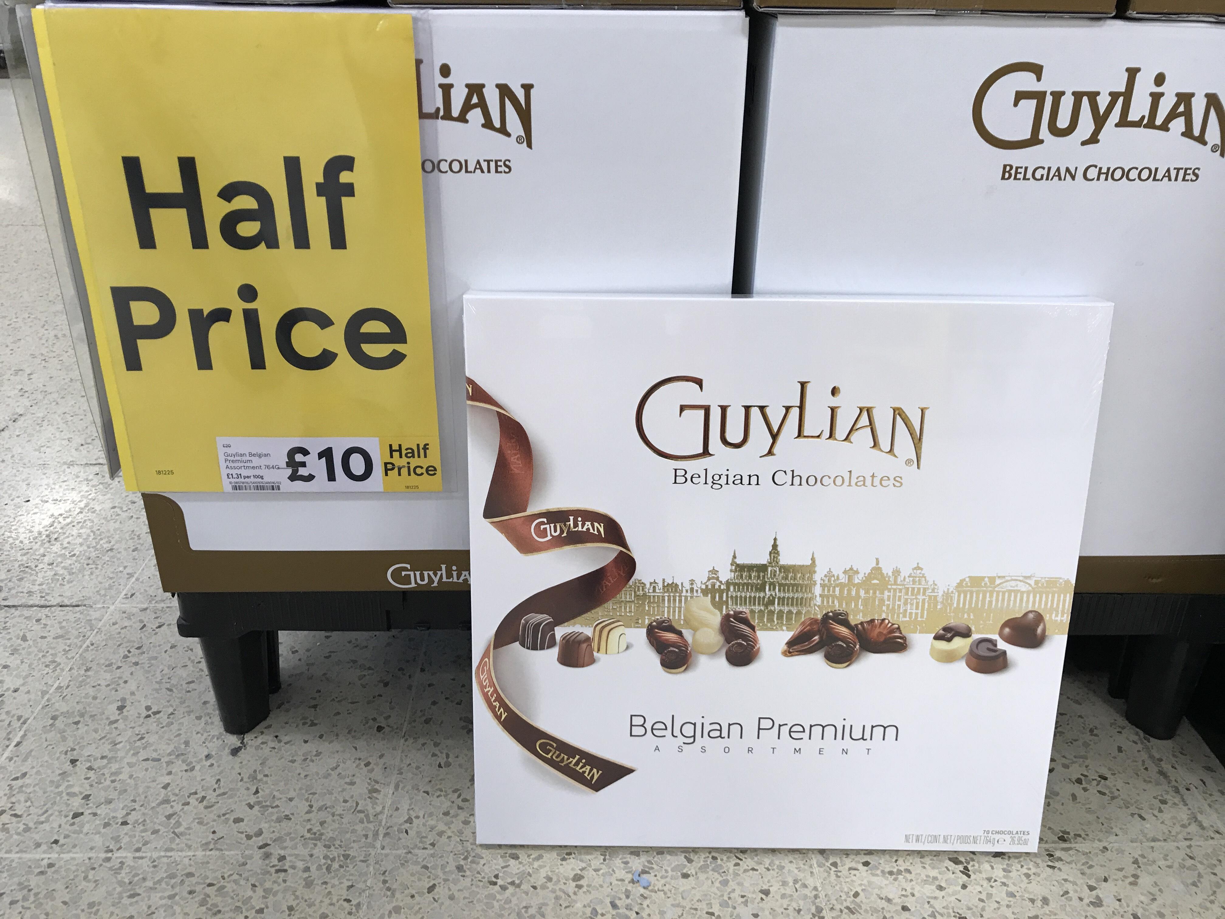 Half Price Guylian Belgian Premium Assortment Chocolates 764g Big Box £10 @ Tesco instores