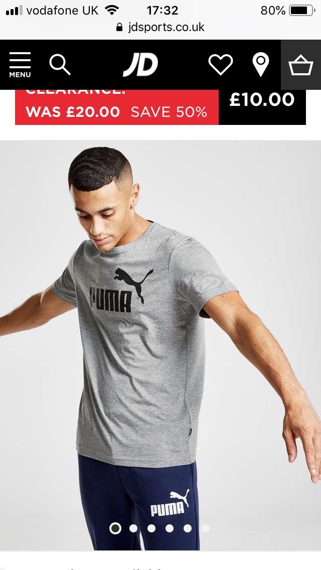 Men's puma T-shirt jd sports £10