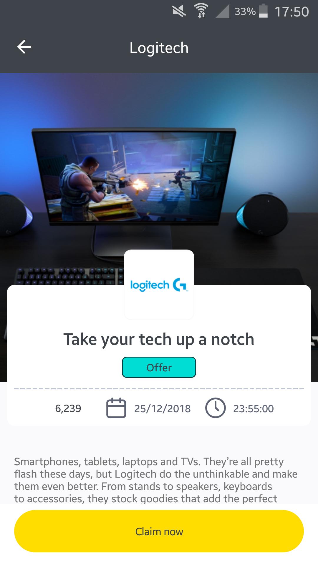 25% Off up to 3 Items on the Logitech Website - Wuntu App