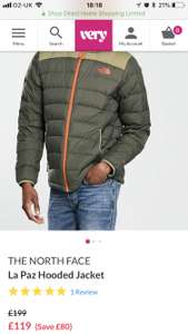The north face la Paz hooded jacket £119 @ Very