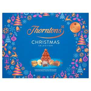 Thorntons Limited Edition Christmas Selection Box 418g half price - £5 @ Tesco from 18th Dec