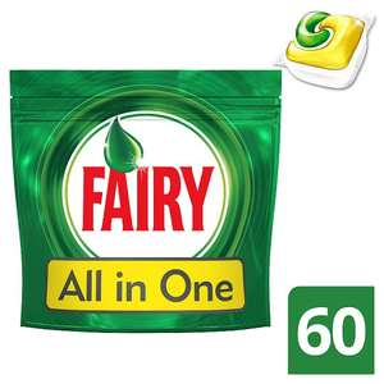 Fairy All In One Lemon 60 Dishwasher Tablets 60 Pack £6 (10p each) @ Tesco