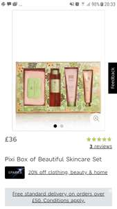 Marks & Spencer's  PIXI Box of Beautiful skin care set gift set is currently £36 instore @ M&S (only £28.80 If Sparks Member)