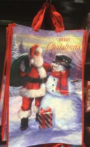Christmas Jumbo sized 'bag for life' (99p) or cardboard bags (99p or 2 for £1.80) @Home Bargins (instore)