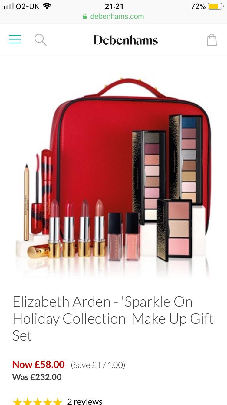 Elizabeth Arden make up gift set £58 at Debenhams