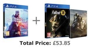 Battlefield 5 + Fallout 76 & Steelbook Case (PS4/Xbox one) £53.85 @ShopTo
