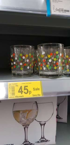Asda polka dot tumblers reduced to 45p each in-store