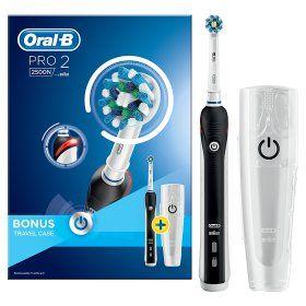 Oral-B Pro 2500 CrossAction Electric Toothbrush Black £30 @ Asda