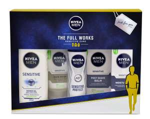 Nivea Men Gift Set, The Full Works Gift Pack for Him with 5 Items, £8.17 (+£4.99 delivery non-prime) at amazon