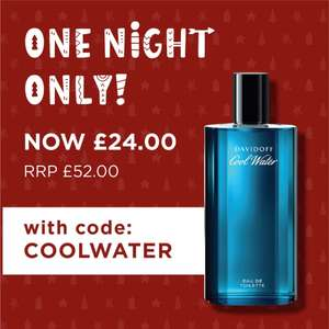 Davidoff Cool WaterEDT 125ml £24 with code @ The Fragnance Shop