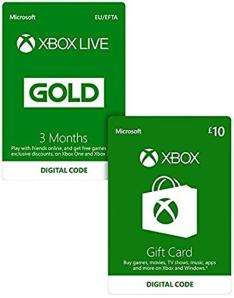 Xbox Live 3 Month Gold Membership + £10 Free Xbox Live Credit (Xbox One) = £14.99 @ Game (Download codes)