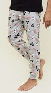 Multicoloured Star Wars Pyjama Joggers £6 free delivery w/code + app (100% cotton) at New Look