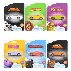 DreamWorks die cast Cars with stickers just £0.99 @ home bargains Shrek / Kung fu panda and more