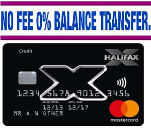 ''NO FEE, 0% BALANCE TRANSFER'' on Introductory Balance Transfers for Up to 20 Months @ Halifax