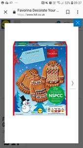 Favorina Decorate Your Own Gingerbread Cookie £1.99 instore @ lidl