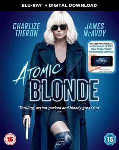 Atomic Blonde - BluRay with Digital Download £4.51 Delivered with code @ Zoom