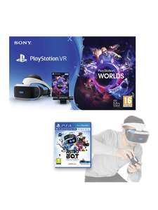 PlayStation VR Console Starter Pack with Astro Bot: Rescue Mission £161.99 with code at VERY