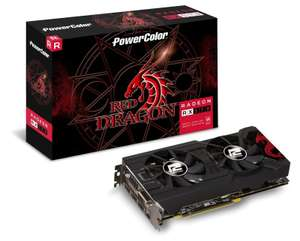 Powercolor AMD RX 570 4GB DDR5 RED DRAGON GPU, £139.97 at Ebuyer (2 free games included)