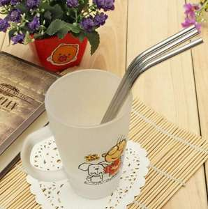 8 x Eco Friendly Metal Straws Washable £2.05 delivered @ AliExpress / Pro Lighting & Tool Store