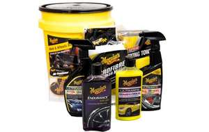 Meguiars Wash & Wheels 9 piece car cleaning and drying Bucket Kit now £40 @ Halfords