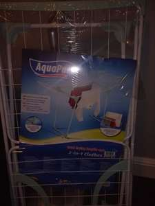 Aquapur 2 in 1 clothes airer £5 instore @ LIDL