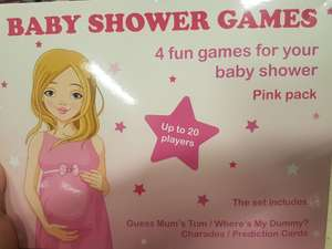 Tesco Coventry walsgrave baby shower games set reduced from 13.99