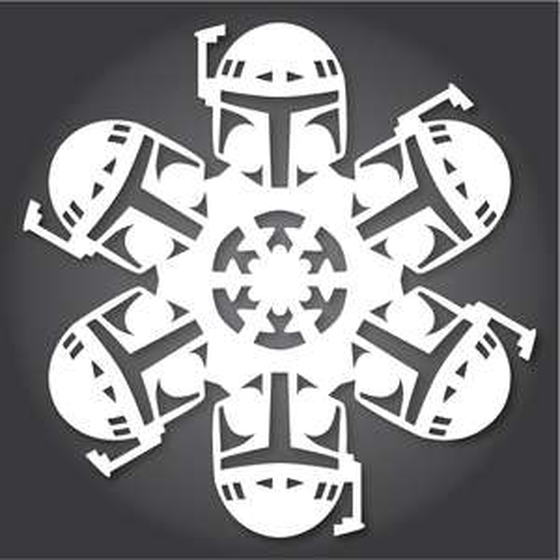 Free Star Wars / Frozen / GOTG / Harry Potter Snowflakes Templates