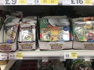 Pokemon sun and moon blister pack - booster, holofoil and coin @ Tesco £2.50 or 2 boosters 3 Holofoils and a coin for £6 - Also Online