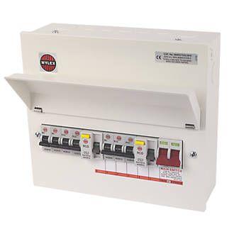 Wylex 13-Module 7-Way Populated High Integrity Dual RCD Consumer Unit £49.99 @ Screwfix