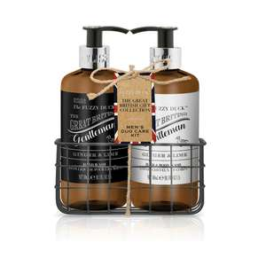 Baylis & Harding Fuzzy Duck Men's Ginger and Lime Grooming Essentials Bottle Rack Gift Set £5.49 @