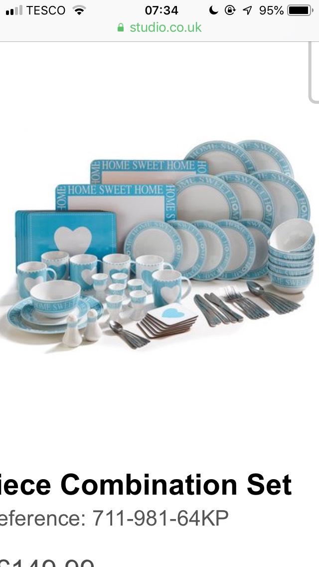 70-Piece Combination Dinner Plate Set £54.99 Studio