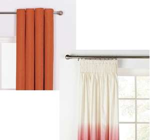 Heart of House Hudson Textured Curtains Orange 90'' wide 90'' drop £5.99 / Red Ombre Pencil Pleat Curtains £5.99 delivered @ Argos ebay