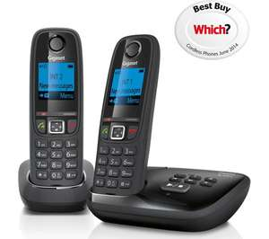 GIGASET Duo AL415A Cordless Phone with Answering Machine - Twin Handsets for £24.99 @ Currys