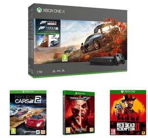 MS Xbox One X, FH 4, Forza Motorsport 7, RDR 2, Tekken 7 & Project Cars 2 Bundle for £389.99 Delivered w/c @ Currys