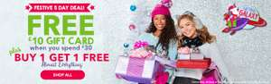 MASSIVE SAVINGS AT CLAIRE'S free gift card when spending £30. Plus bogof on many items