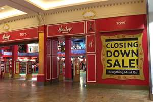 Hamleys Trafford centre closing down everything now  all at 50% off.