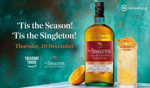 Free Christmas cocktail kit + £5 off Singletons Whisky at Amazon Treasure Truck