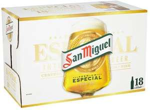 18 x 330ml bottles San Miguel £9.99 instore Aldi