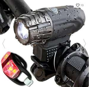 USB rechargeable front and rear multi-function bike light set £2.86 delivered with code @ Rosegal