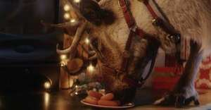 Film Rudolph eating the carrots the kids have left out at your house with McDonalds Reindeer Ready free video - need to use phone to work