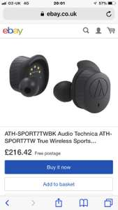 Audio-Technica ATH-SPORT7TW Wireless Bluetooth earbuds £139 @ Cash Convertors
