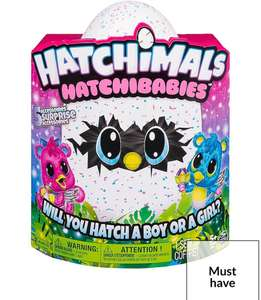 Hatchimals babies £22.99 at very